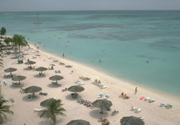 The Beach As Seen From the Aruba Tower
